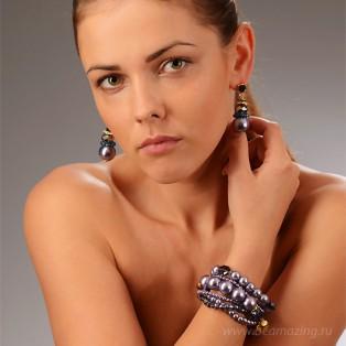 Элитная бижутерия BeAmazing.ru: Серьги Bijou Tresor - У5С200185   - фото 3