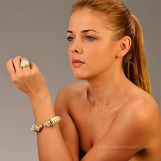 Элитная бижутерия BeAmazing.ru: Кольцо Bijou Tresor - У5К100221 - фото 5