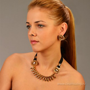 Элитная бижутерия BeAmazing.ru: Колье Bijou Tresor - У5Л200207 - фото 5