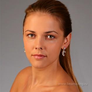 Элитная бижутерия BeAmazing.ru: Серьги Bijou Tresor - У5С200100  - фото 3