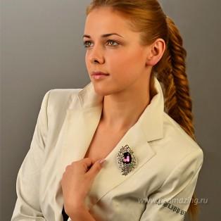 Элитная бижутерия BeAmazing.ru: Брошь Bijou Tresor - У5Ш200482ф - фото 4
