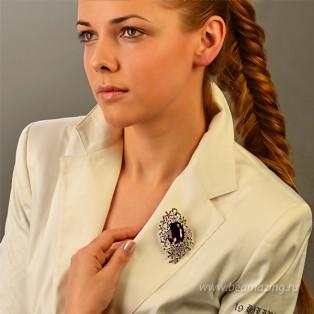 Элитная бижутерия BeAmazing.ru: Брошь Bijou Tresor - У5Ш200482ф - фото 5