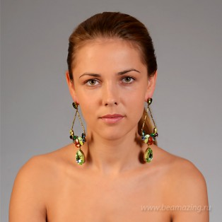 Элитная бижутерия BeAmazing.ru: Серьги Nikolas Frangos - У19Е855 - фото 5