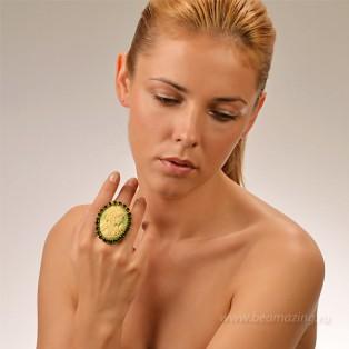 Элитная бижутерия BeAmazing.ru: Кольцо с камеей Nikolas Frangos - D1241 - фото 4