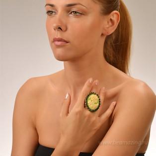 Элитная бижутерия BeAmazing.ru: Кольцо с камеей Nikolas Frangos - D1241 - фото 5