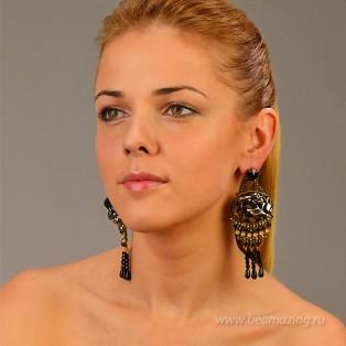 Элитная бижутерия BeAmazing.ru: Серьги Nikolas Frangos - S1260 - фото 5