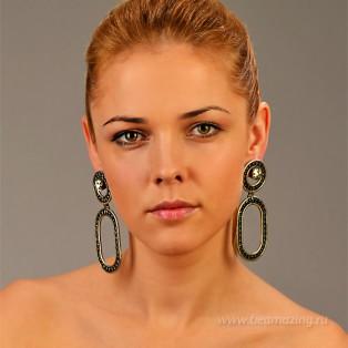 Элитная бижутерия BeAmazing.ru: Серьги Nikolas Frangos - S1267 - фото 4