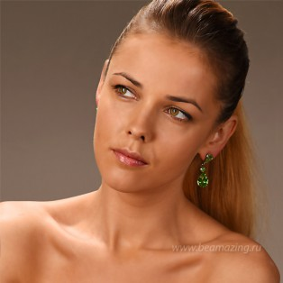 Элитная бижутерия BeAmazing.ru: Серьги Nikolas Frangos - S1385green - фото 4