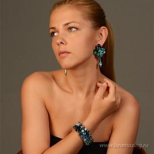 Элитная бижутерия BeAmazing.ru: Серьги Nikolas Frangos  - S683 - фото 3