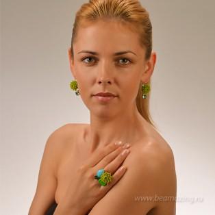 Элитная бижутерия BeAmazing.ru: Серьги Philippe Ferrandis - FP101.1 - фото 4