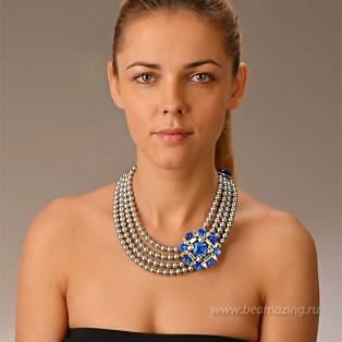 Элитная бижутерия BeAmazing.ru: Колье Philippe Ferrandis - LK23 - фото 5