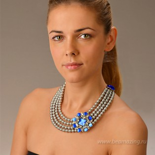 Элитная бижутерия BeAmazing.ru: Колье Philippe Ferrandis - LK23 - фото 6